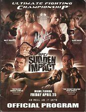 Matt Hughes Tank Abbott Signed UFC 42 Official Event Program PSA/DNA