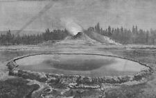 YELLOWSTONE. Washburn-Langford-Doane Expn. Castle Geyser Hot Spring. WY, 1873