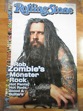 """Rolling Stone ROB ZOMBIE """"Monster Rock, Hot Pants, Rods, Blood & Guitars"""" Poster"""