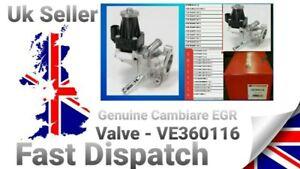 Genuine Cambiare EGR Valve - VE360116.