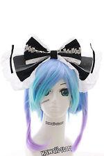 LH-01-02 schwarz Riesen XXL Schleife Gothic Lolita Haarreif Headband Cosplay
