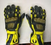 BELSTAFF SPORTS LEATHER MOTORCYCLE GLOVES - YELLOW