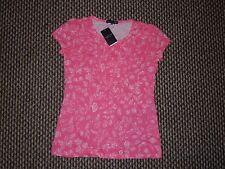 Hang Ten Pink & White T-shirt taglia M Nuovo con etichette