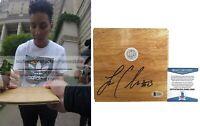 Layshia Clarendon Cal Bears Signed Autograph Basketball Floor Board BAS Beckett