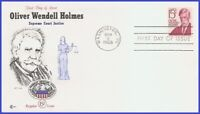 USA3 #1288 U/A COVER CRAFT FDC   Oliver Wendell Holmes
