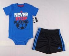 adidas baby boys set,  2-Piece Bodyshirt and shorts set sizes 6, 12,18 months
