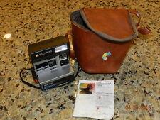Vintage Polaroid Camera Sun 600 Land Camera Light Management System LMS case