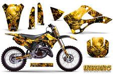 KAWASAKI KX125 KX250 99-02 GRAPHICS KIT CREATORX DECALS INFERNO YNP
