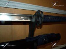 Sword/Katana/Shinwa/Damascus/Real/Battle ready/Full tang/Navy wrap/Sharpened