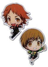 Chibi Yosuke Hanamura & Chie Satonaka Persona 4 the Animation Official Pin Set