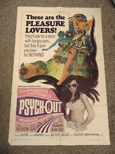 """Susan Strasberg Dean Stockwell Psych-Out Original 27x41"""" Movie Poster B1 #M8374"""