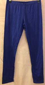 10 AVOCADO Fresh Cobalt Cool Blue Basic Simple Leggings Pants Worn 1x Like New