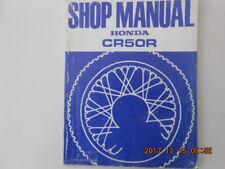 honda  cr50r . shop manual . manuel d'entretien . cr 50 r