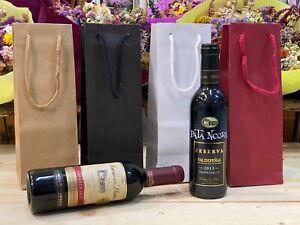 50 bolsas de cartón para botellas de vino de 37,5cl colores a elegir para regalo