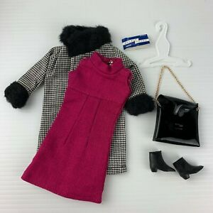 Vintage Palitoy Tressy Outfit Winter Journey + shoes railway ticket accessories