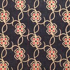 DESIGNERS GUILD Carharrack printed cotton indigo red washable new remnant