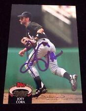 JOEY CORA 1992 TOPPS STADIUM CLUB Autographed Signed AUTO Baseball Card 535 SOX