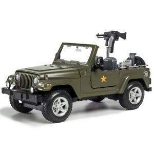 1:24 Jeep Wrangler Willis Wwii Command Car Sound and Light Model Toy