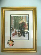 "Staton Arts Emmett Kelly Limited Edition Framed Litho "" A Christmas Carol w/Coa"