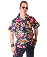 FINE49 retro Hibiskus Kahekili Hawaii Blüten Rockabilly Hemd Hawaiian Shirt