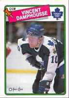 1988-89 O-Pee-Chee Vincent Damphousse Toronto Maple Leafs #207