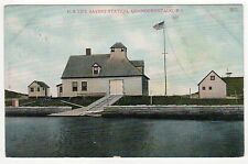 QUONOCHONTAUG RHODE ISLAND PC Postcard US LIFE SAVING STATION Lifesaving RI