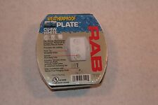 RAB Weatherproof Cover Plate WHITE for Outdoor Security Light or Motion Sensor