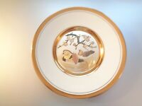 "The Art Of Chokin Plat Gilded With Gold And Silver 7 3/4"" In Diameter"