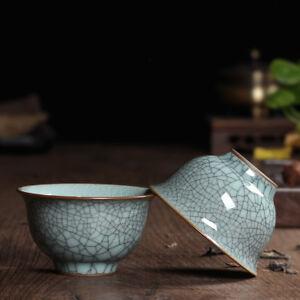 2pcs/lot Chinese tea cup longquan celadon porcelain tea cups marked 95ml cup new