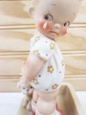 Vtg Enesco Memories Of Yesterday Figurine Girl Dog Fido Loves Me Lucie Attwell