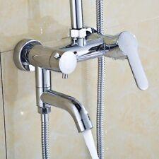 3 Way Bathroom Tub Shower Faucet Wall Mount Shower Head Bath Valve Mixer Tap