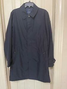 NWT MSRP $228 POLO RALPH LAUREN BLUE TRENCH COAT SIZE XS