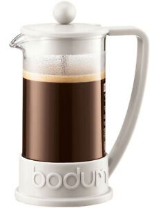 BODUM BRAZILFRENCH PRESS COFFEE MAKER 3CUP/0.35 LITER OFF WHITE