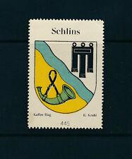 Vignette-Reklamemarke Schlins-Kaffe Hag, Wappen, Horn   20/10/15