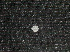 STRETCH SPARKLE LUREX- STRIPE JERSEY- BLACK/GREEN/GOLD DRESS FABRIC - 2.85 MTRS.