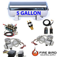 Air Ride Compressor Package Dual Voltairmaxx DC480 5 Gallon Storage Tank 7 xzx