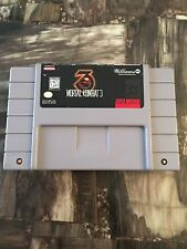 Snes Mortal Kombat 3 Cart L@@K B