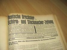 Deutsche Drechsler Schirm- und Stockmacher Zeitung 1939-1940 viele Bände rar