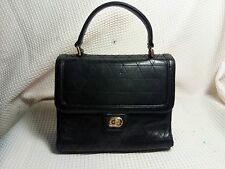 TALBOTS BLACK QUILTED LEATHER SATCHEL PURSE HANDBAG BUTTER SOFT LEATHER
