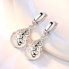 Gorgeous 925 Silver Drop Earrings for Women Moonstone Jewelry A Pair/set