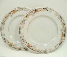 Evening by Soma Fine China  of Japan Vintage Set of 5- Porcelain Salad Plates Sized 7-34 D Multi Colored Leaf Pattern