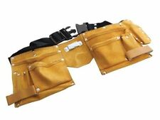 DIY Trade Carpenter Builder Site Adjustable Leather Tool Nail Belt Pouch NEW