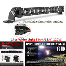 1Pcs 13.4inch 120W Flood LED Work Light Bars Car Off Road Roof Driving Fog Lamp