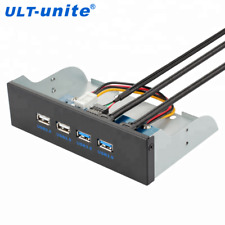 4 Port USB 3.0 and USB 2.0 5.25 inch Custom Computer Case Front Panel