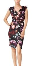 BAR III   SEXY  FLORAL  CAP SLEEVE  SHEATH  STRETCH  MIDI DRESS  Sz L  NWT  $ 80