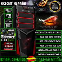 Ordenador Gaming Pc Intel Core i7 8GB 1TB ASUS GTX1650 4GB TUF Gaming Sobremesa