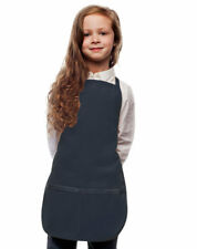 Navy Blue Kids Apron for your Little Chef High Quality Poly/Cotton Twill Fabric