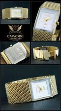 Bracelet de la Maison Cavadini Montre Homme Ip-Plaqué or Mélanais Bande