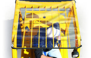 Forkshield Universal Clear Windshield/Canopy Forklift Cover Top - OSHA Approved