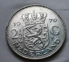 1970 Netherlands Dutch 2 1/2 Gulden Juliana Coin